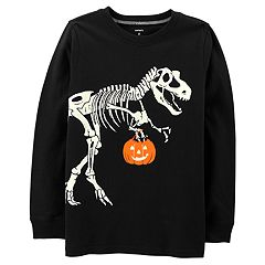 Boys 4-12 Carter's Halloween Glow in the Dark Dinosaur Skeleton Graphic Tee
