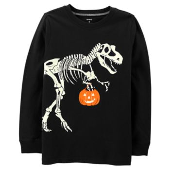 Boys 4-12 Carter's Halloween Glow in the Dark Dinosaur Skeleton Graphic Tee