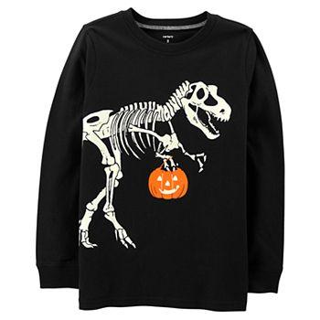 6a0ebf3f Boys 4-12 Carter's Halloween Glow in the Dark Dinosaur Skeleton Graphic Tee