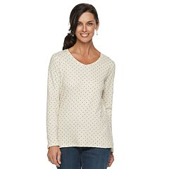 Women's Croft & Barrow® Essential V-Neck Top