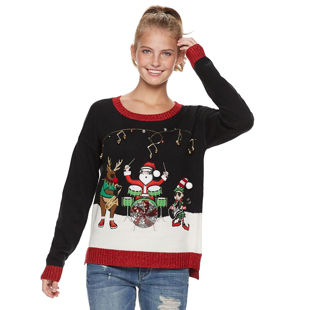 Juniors\' It\'s Our Time Musical Trio Christmas Sweater