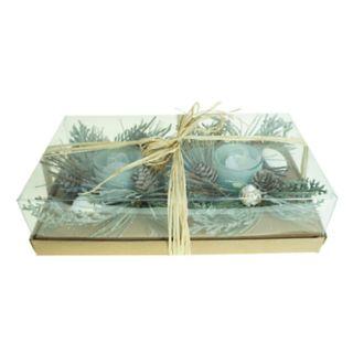 St. Nicholas Square® Coastal Pine LED Candle Table Decor 2-piece Set
