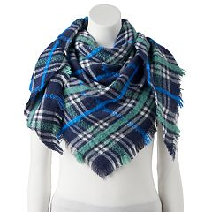 Women's Candie's® Boucle Plaid Triangle Scarf