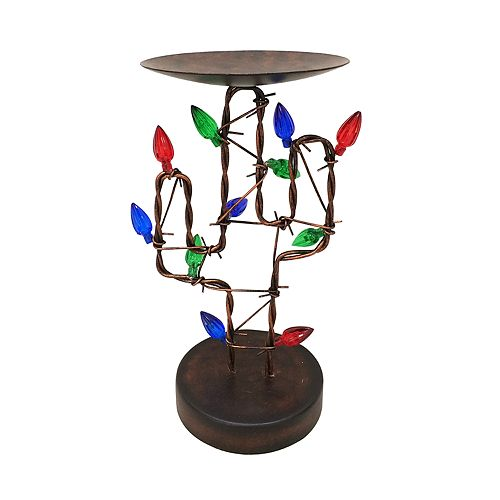 St. Nicholas Square® 8-in. Cactus Christmas Pillar Candle Holder