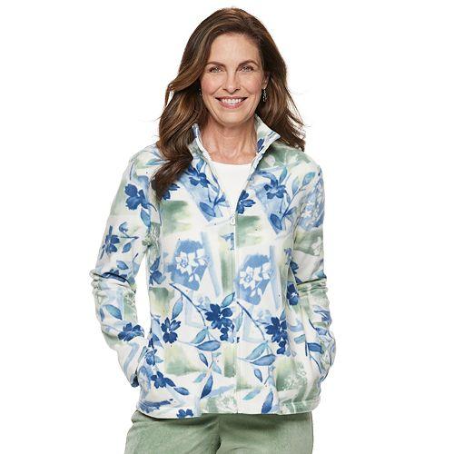 Women's Alfred Dunner Studio Floral Fleece Jacket