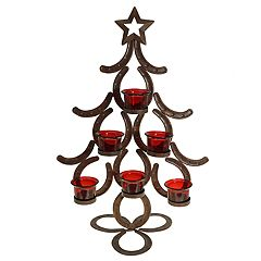 St. Nicholas Square® 6-Light Horseshoe Tree Christmas Candle Holder