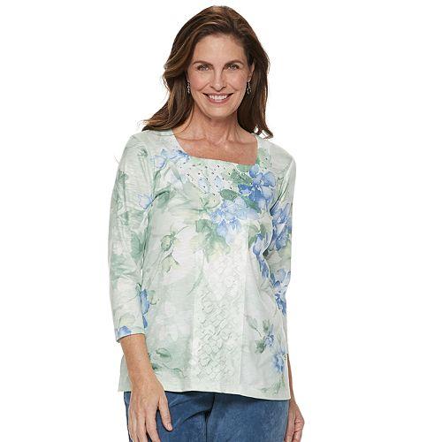 Women's Alfred Dunner Studio Embellished Floral Top