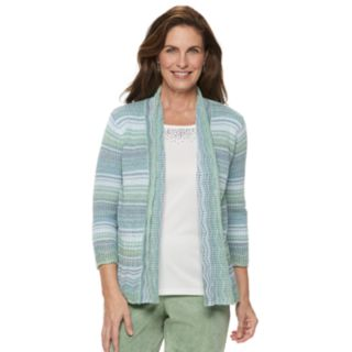 Women's Alfred Dunner Studio Space-Dye Mock-Layer Sweater
