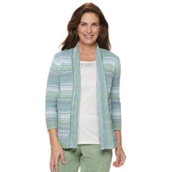 Women's Alfred Dunner Studio Space-Dye Mock-Layer Sweater