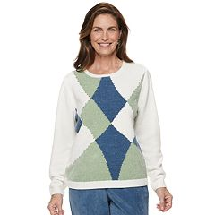 Women's Alfred Dunner Studio Patchwork Chenille Sweater