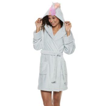 Juniors' SO® Plush Unicorn Robe