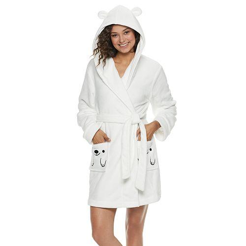 Juniors' SO® Plush Bear Robe