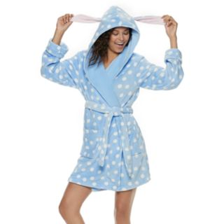 Juniors' SO® Plush Bunny Robe