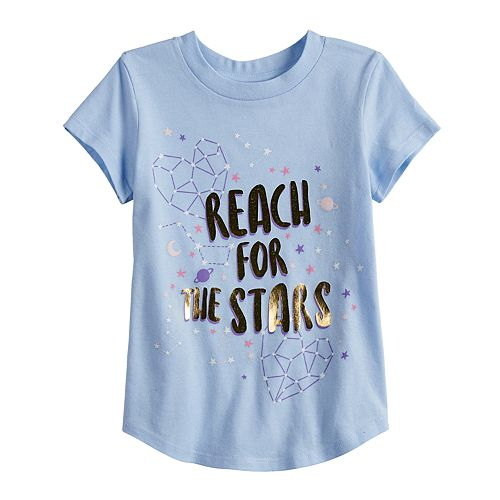 """Toddler Girl Jumping Beans® """"Reach For The Stars"""" Constellation Graphic Tee"""