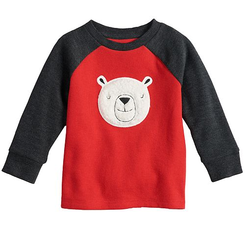 Baby Boy Jumping Beans® Flat Back Applique Raglan Top