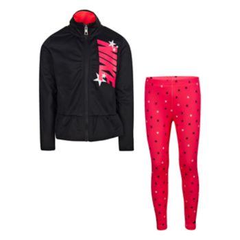 Girls 4-6x Nike Peplum-Hem Jacket & Star Leggings Set