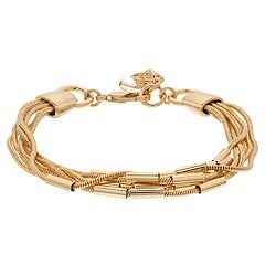 Dana Buchman Multi Strand Gold Tone Chain Bracelet