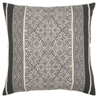 Rizzy Home Gray Tribal Transitional Throw Pillow