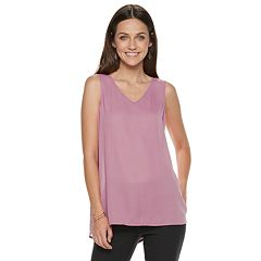 Women's Apt. 9® V-Neck Georgette Shell Tank