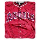 Los Angeles Angels of Anaheim Jersey Raschel Throw by Northwest