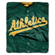 Oakland Athletics Jersey Raschel Throw by Northwest