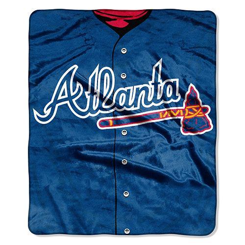Atlanta Braves Jersey Raschel Throw by Northwest