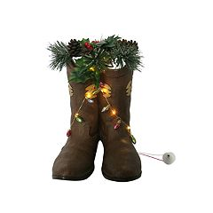 St. Nicholas Square® Light-Up Cowboy Boot Christmas Table Decor
