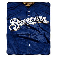 Milwaukee Brewers Jersey Raschel Throw by Northwest