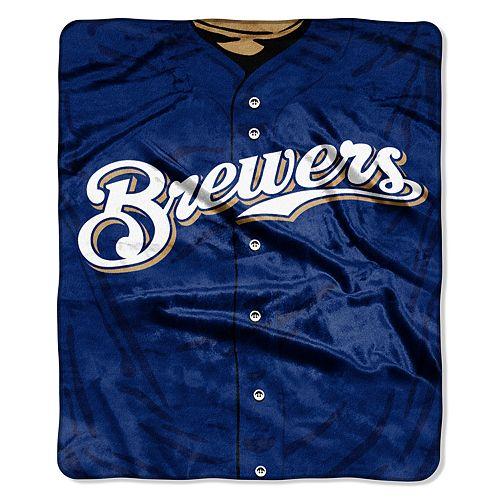 Milwaukee Brewers Jersey Raschel Throw by Northwest