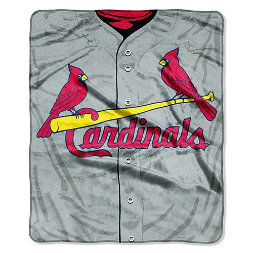 St. Louis Cardinals Jersey Raschel Throw by Northwest