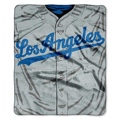 Los Angeles Dodgers Jersey Raschel Throw by Northwest