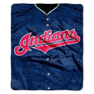 Cleveland Indians Jersey Raschel Throw by Northwest