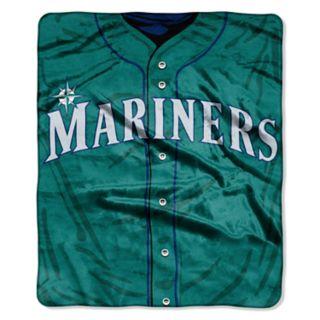 Seattle Mariners Jersey Raschel Throw by Northwest