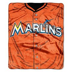 Miami Marlins Jersey Raschel Throw by Northwest