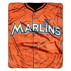 Miami Marlins Jersey Raschel Throw by Northwest