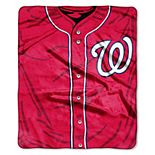 Washington Nationals Jersey Raschel Throw by Northwest