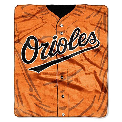 Baltimore Orioles Jersey Raschel Throw by Northwest