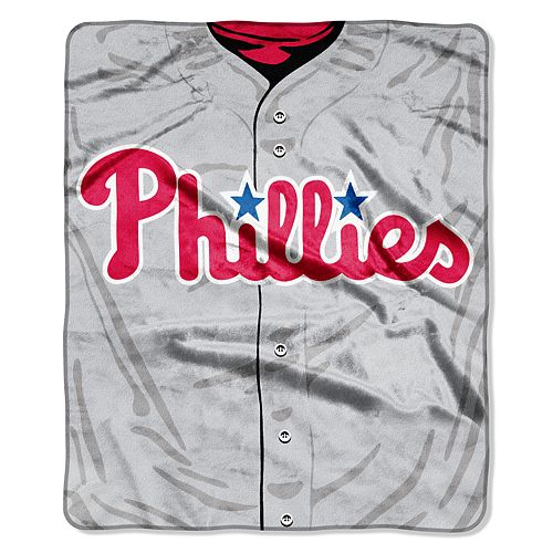 Philadelphia Phillies Jersey Raschel Throw by Northwest