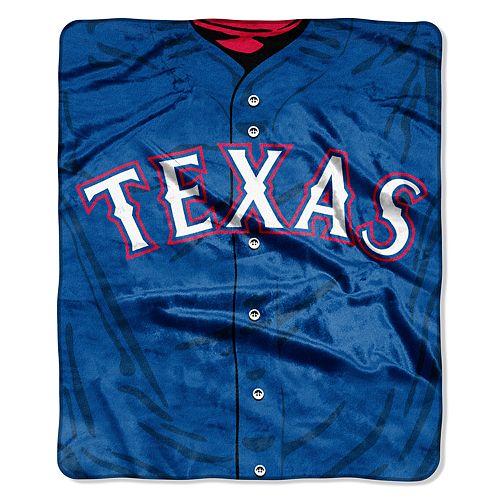 Texas Rangers Jersey Raschel Throw by Northwest