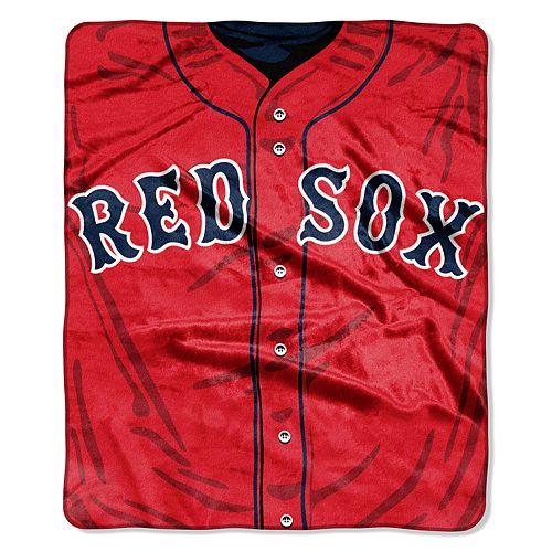 Boston Red Sox Jersey Raschel Throw by Northwest
