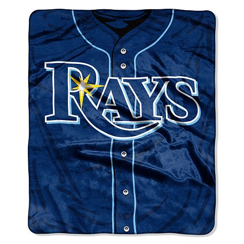 Tampa Bay Rays Jersey Raschel Throw by Northwest