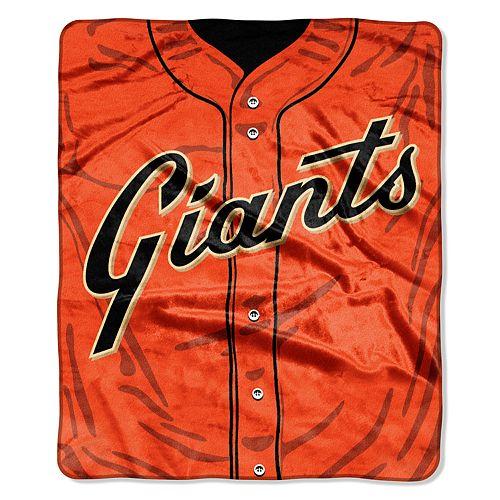 San Francisco Giants Jersey Raschel Throw by Northwest