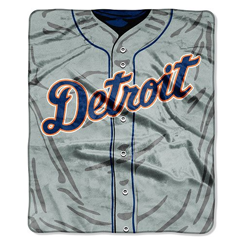 Detroit Tigers Jersey Raschel Throw by Northwest