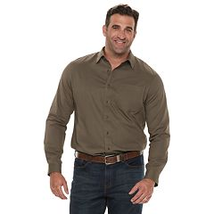 Big & Tall Croft & Barrow® Regular-Fit Twill Utility Button-Down Shirt