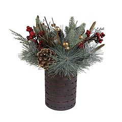 St. Nicholas Square® Pine Cone & Artificial Pine Table Decor