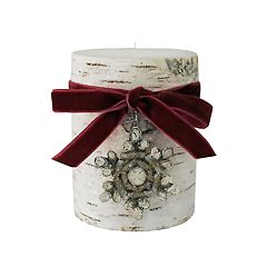 St. Nicholas Square® Winter Frost 3' x 4' Pillar Candle