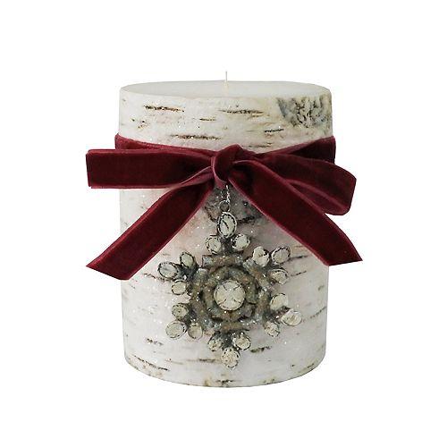 "St. Nicholas Square® Winter Frost 3"" x 4"" Pillar Candle"