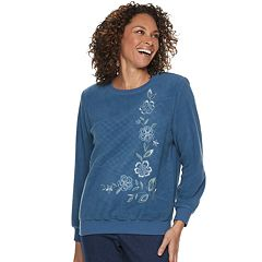 Women's Alfred Dunner Studio Embroidered Crewneck Sweatshirt