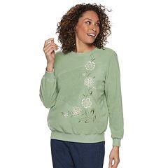 Women's Alfred Dunner Studio Embroidered Crewneck Sweatshirt