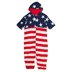 Men's American Flag Hooded Union Suit